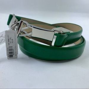NWT New York & Company Bright Green Buckle Belt